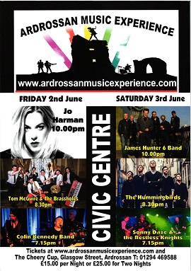 Jo Harman & The James Hunter Six at the Ardrossan Music Experience in S. Scotland