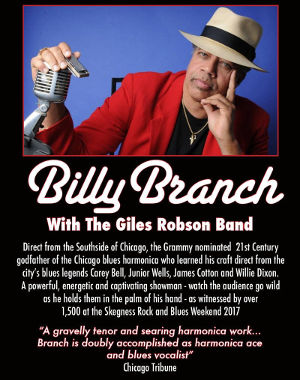 Billy Branch tour announcement 2017