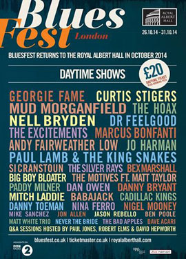 Bluesfest at the Royal Albert Hall, London. Poster 2014