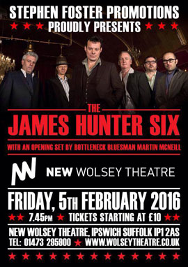 James Hunter - New Wolsey, Ipswich 05/02/2016