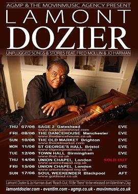 Lamont Dozier UK Tour 2018