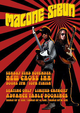 Malone Sibun New Cross Inn Poster