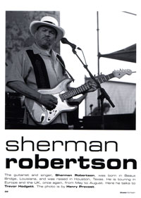 Blues in Britain - Sherman Robertson article