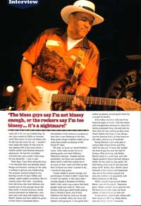 Guitar and Bass Magazine 2006 Sherman Robertson article