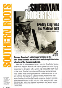 Juke Blues 2007 - Sherman Robertson article